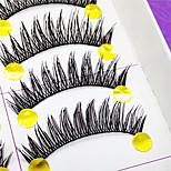 Eyelashes lash Full Strip Lashes Eyes Thick Volumized Handmade Fiber Black Band 0.10mm 12mm