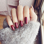 24PCS/SET Nail Strips Short Red Wine The Golden Flash Powder