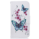 Butterfly Pattern Leather PU Leather Material Leather Phone Case for  Motorola Moto G4 Plus / MOTO G4