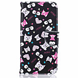 Cat Pattern Case Card Holder Flip Full Body Case Hard PU Leather for iPhone 7 Plus 7 6s Plus 6 5s SE
