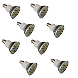 3W E14 / GU10 / E26/E27 Focos LED MR16 27 SMD 5050 300 lm Blanco Cálido / Blanco Fresco Regulable / Decorativa V 8 piezas