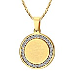 Men's Pendant Necklaces Jewelry Halloween/Party/Birthday/Daily/Casual Zircon Stainless Steel Gold Plated Golden 1pc Gift