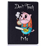 Piggy Pattern Painted PU Leather Material Card Flat Shell for  ipad Air  Air 2