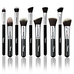 10 Makeup Brushes Set Nylon Brush Professional / Portable Wood Face/Eye / Lip