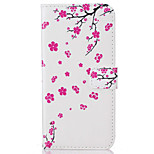 For  iPhone 7 7 Plus  6s 6 Plus  SE 5S 5 5C Card Holder Flip Plum  Pattern Case Full Body Case Hard PU Leather