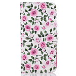 For  iPhone 7 7 Plus  6s 6 Plus  SE 5S 5 5C Card Holder Flip Rose Pattern Case Full Body Case Hard PU Leather