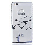 Birds Pattern Tpu Material Highly Transparent Phone Case For Huawei P9 P9 Plus Y5II Y6II