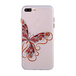 Butterfly Pattern Simple Matte TPU Material Luminous Phone Shell For iPhone 7 7 Plus 6s 6 Plus
