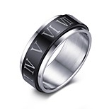 Men's Statement Rings Jewelry Daily/Hallowas/Party/Wedding/Casual Fashion Stainless Steel Black 1pc Gift