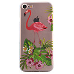 For iPhone 7 7 Plus 6S 6 Plus SE 5S Case Cover Flamingo Pattern High Permeability Painting TPU Material Phone Case