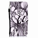 Black and White Trees Painting PU Phone Case for apple iTouch 5 6