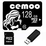 CEMOO Original Beauty Series 128GB Micro SD TF Card Class 10  with SD SDHC Adapter and Multi-function OTG USB Card Reader