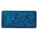 Nail Polish Scraper Art Christmas Santa Claus Elk Stamping Image Plates Set Manicure Stencil Tool