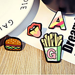 1 Set Cute Love Hamburger Cake Chips Brooch Set Fashion Jewelry for Men/Women(Random Style)