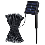 Jiawen 8 Modes 10M 100 leds Cool White or Warm White Outdoor Waterproof Solar LED string lights
