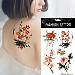 5Pcs Watercolor Peony Flower Wintersweet Lady Body Art Painting Waterproof Tattoo Sticker Hot