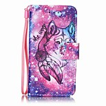 Lone Wolf Painting PU Phone Case for apple iTouch 5 6