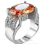 Кольца Для вечеринок Бижутерия Циркон Мужчины Кольцо 1шт,Стандартный размер Золотой
