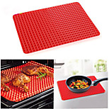 1 pcs BBQ Mat Silicone BBQ Pyramid Pan Fat Reducing Slip Oven Baking Barbecue Charcoal Grill Oil Filter Pad Sheet Cooking Mat