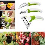 3Pcs Set Triple Slicer Fruit Sculpting Knife Vegetable Cuttur Kitchen Tools