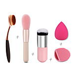 3 x Makeup Brush Set (Powder Blush Foundation Brush Sponge Puff  Contour Brushes Pincel Maquiagem)