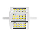 10W R7S Focos de LED Tubo 24 SMD 5730 880 lm Branco Quente / Branco Frio Decorativa V 1 pç