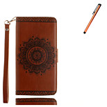 For  Samsung Galaxy S7 edge S7 S6 edge S6 Case Cover Card Holder Wallet  with Stand Embossed Case Full Body Case Mandala Hard PU Leather With Stylus