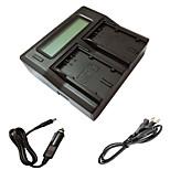 ismartdigi D28S LCD Dual зарядное устройство с кабелем для зарядки в автомобиле для Panasonic MD10000 DS25 DS27 mx3 Аккумуляторы MX500