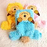 Gatos / Cães Fantasias / Macacão Amarelo / Azul / Rosa Roupas para Cães Inverno / Primavera/Outono Animal Fofo / Fantasias