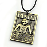 Inspired by One Piece Trafalgar Law Anime Cosplay Accessories Necklace Golden / Silver Alloy