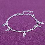 Damskie Łańcuszek na kostkę/Bransoletki Posrebrzany Modny Leaf Shape Biżuteria Na Codzienny Casual