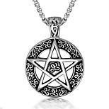 Муж. Ожерелья с подвесками Цепочка В форме звезды Титановая сталь Религиозный Мода По заказу покупателя Бижутерия Назначение Повседневные