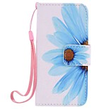 Sunflower Painting PU Phone Case for apple iTouch 5 6