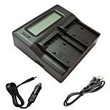 ismartdigi ФХ бс Ф.П. LCD Dual зарядное устройство с кабелем для зарядки в автомобиле для сони Fh 50 70 100 бс 50 70 100 120 50 70 FP 90