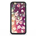 Para Diseños Funda Cubierta Trasera Funda Flor Dura Aluminio AppleiPhone 7 Plus / iPhone 7 / iPhone 6s Plus/6 Plus / iPhone 6s/6 / iPhone