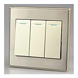 86 настенный выключатель панели переключатель трех одной панели