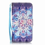 Crystal Flower 3D Painting PU Phone Case for apple iTouch 5 6
