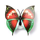 3pcs creativo bello colore che cambia l'ABS farfalla ha portato la lampada luci notturne bella casa decorativi illuminazione notturna