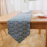 Rectangular Patterned / Floral / Nautical Table Runner , Linen Material Hotel Dining Table / Table Decoration