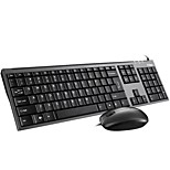 Fuhlen L618 USB Wired Business Standard Keyboard  Business Mouse