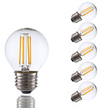 3.5W E26 LED Filament Bulbs G16.5 4 COB 350 lm Warm White Dimmable 120V 6 pcs