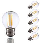 3.5 E26/E27 Lâmpadas de Filamento de LED G16.5 4 COB 350 lm Branco Quente Regulável AC 110-130 V 6 pçs