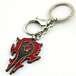 Inspired by WOW Cosplay Anime Accessories Keychain Red Alloy