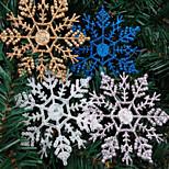 4PCS Christmas Decorations Christmas Snowflake Powder 10*6.5CM  Color Random