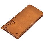 Per A portafoglio / Porta-carte di credito / Con chiusura magnetica / Decorazioni in rilievo Custodia Borsetta marsupio CustodiaFiore