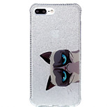 For Double IMD Case Back Cover Case Cat pattern Soft TPU Apple iPhone 7 7 Plus 6s 6 Plus SE 5s 5