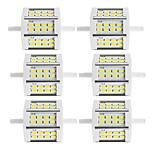 10W R7S Focos de LED Tubo 24 SMD 5730 880 lm Branco Quente / Branco Frio Decorativa V 6 pçs