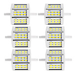 10W R7S Projecteurs LED Tube 24 SMD 5730 880 lm Blanc Chaud / Blanc Froid Décorative V 6 pièces