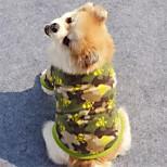 Cães Casacos Côr Camuflagem Roupas para Cães Inverno / Primavera/Outono Caveiras Férias / Da Moda / Dia Das Bruxas