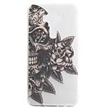 For ASUS Zenfone 3 ZE552KL Zenfone 3 ZE520KL Case Cover Skull Flower Pattern High Permeability Painting TPU Material Phone Case
